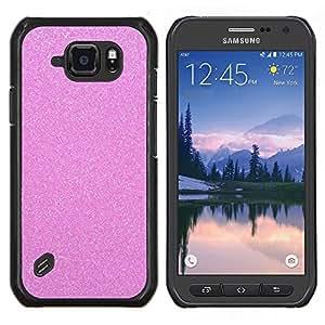Pink Glitter Espumoso plástico Diamond- Metal de aluminio y de plástico duro Caja del teléfono - Negro - Samsung Galaxy S6 active / SM-G890 (NOT S6)