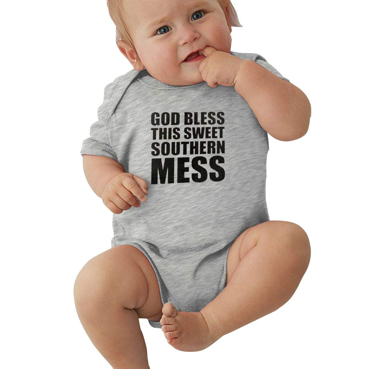 Bodysuits Clothes Onesies Jumpsuits Outfits Gray HappyLifea God Bless This Sweet Southern Mess Baby Pajamas
