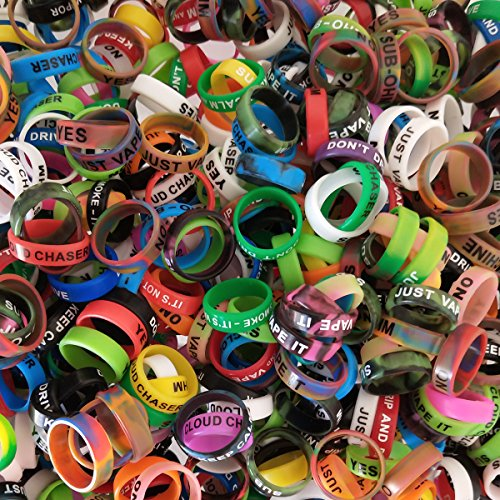 CENGLORY 100 Pieces Silicone Vape Rings Anti Slip Vape Rubber Bands for RBA RDA Tank Mechanical Mod - Diameter 22mm ()