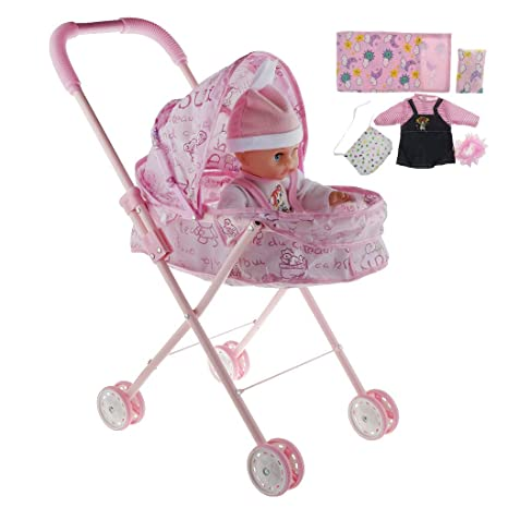 Activity & Gear Mother & Kids Reliable Doll Stroller Baby Stroller Trolley Nursery Furniture Toys Doll Trolley Toy Simulated Stroller For Indoor Outdoor Use