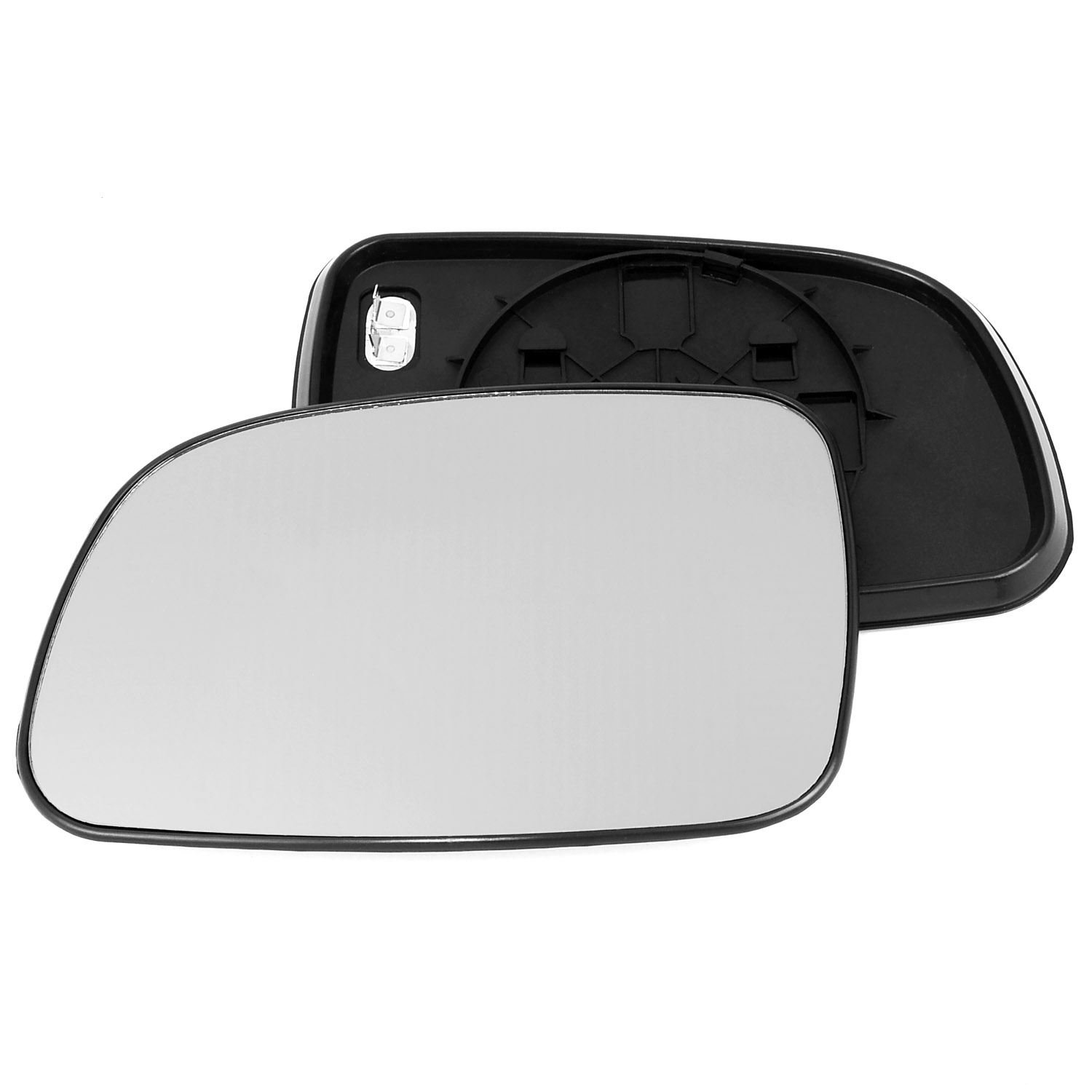 Passenger left hand side Heated wing door Silver mirror glass with backing plate #C-SHY/L-JPGCE98 [Clip On] Sylgab