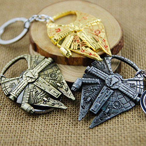 Zehui Alloy Metal Car Key-chain Bottle Opener Spaceship Millennium Falcon