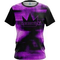 02159c13 CoolWick Mens Brunswick Canvas Purple Bowling Jersey