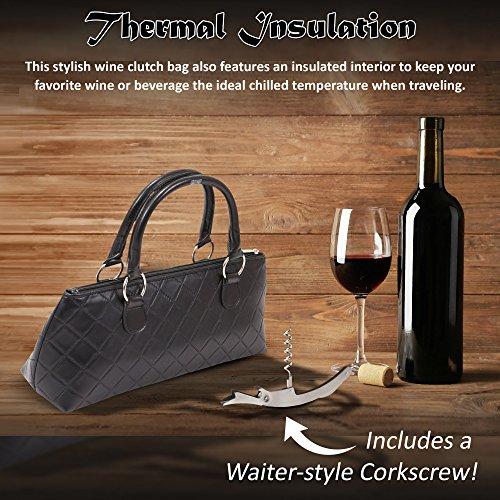 pour Bouteille de vin matelassé Sac Black Quilted Main à Sac Primeware Embrayage Homme qU1OHnw