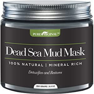 Pure Originals Dead Sea Mud Mask for Face, Body & Hair 8.8 oz 100% Natural and Organic Deep Skin Cleanser