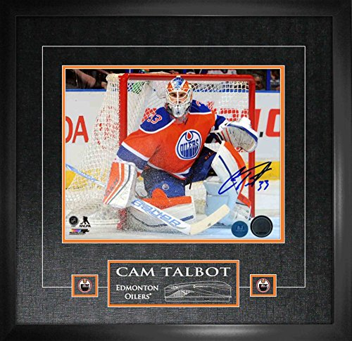 Cam Talbot Signed 11x14 Etched Mat Edmonton Oilers Orange Action