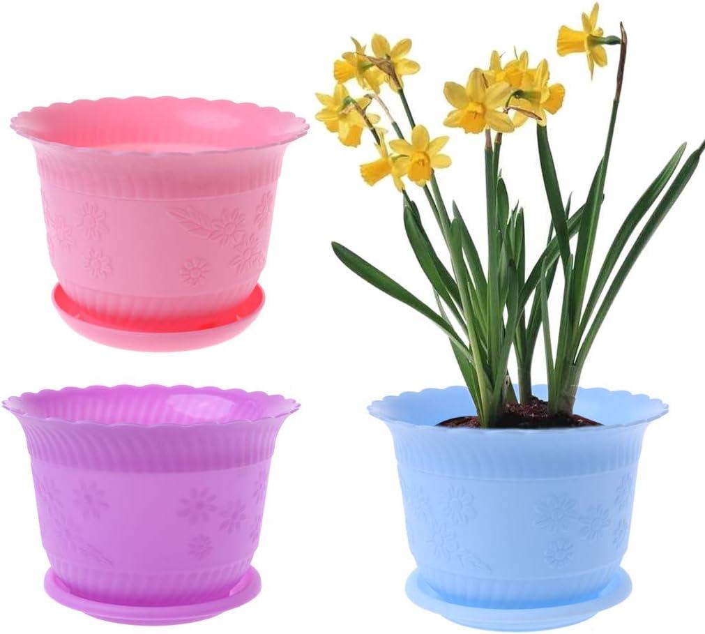 A0127 - Maceta de plástico para habitación Infantil, diseño de Flores: Amazon.es: Jardín
