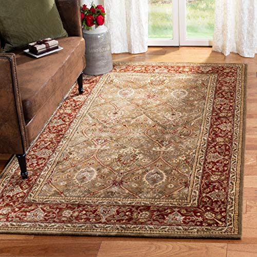 Safavieh Persian Legend Collection PL519B Handmade Traditional Light Green and Rust Wool Area Rug (5