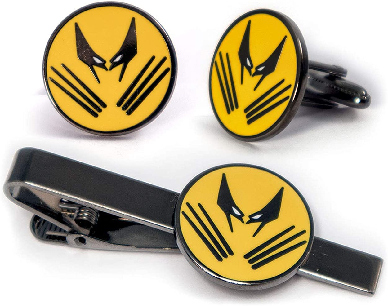 SharedImagination Wolverine Cufflinks, The X-Men Tie Clip, Marvel Minimalist Jewelry, Deadpool Tie Tack, Magneto Cuff Links Groomsmen Wedding Party Gift