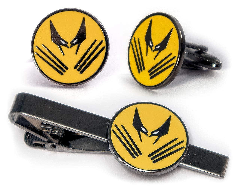The X-Men Tie Clip Magneto Cuff Links Groomsmen Wedding Party Gift Marvel Minimalist Jewelry SharedImagination Wolverine Cufflinks Deadpool Tie Tack