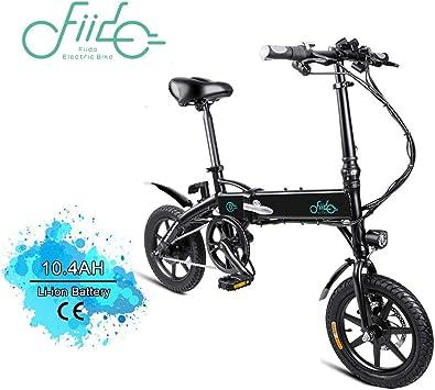 FIIDO D1 14 Pulgadas Bicicleta eléctrica Plegable, Bicicleta ...