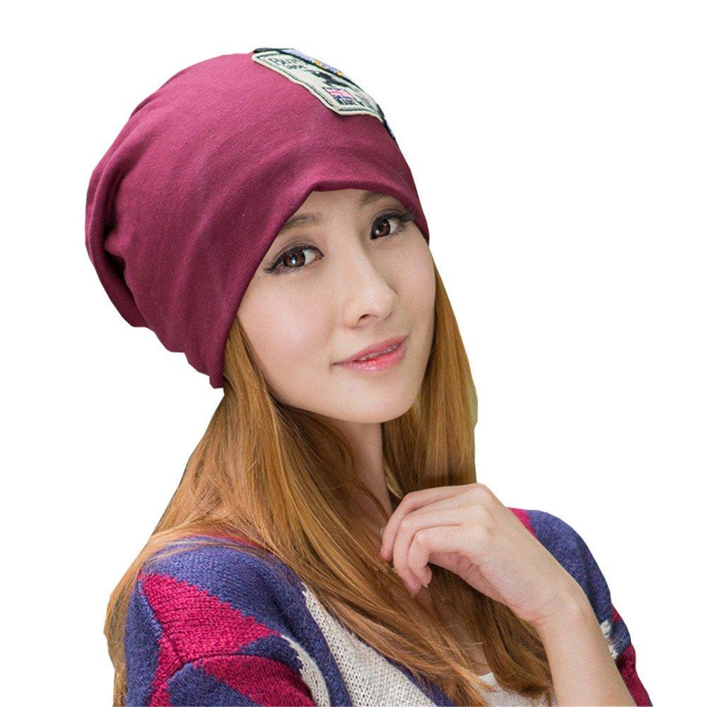 L'autunno inverno cappello outdoor a maglia femmina hat caldo testa manicotto scheda cap Baotou Hat Cap Hat per circonferenza testa 56cm-60cm mese di chemioterapia,gules