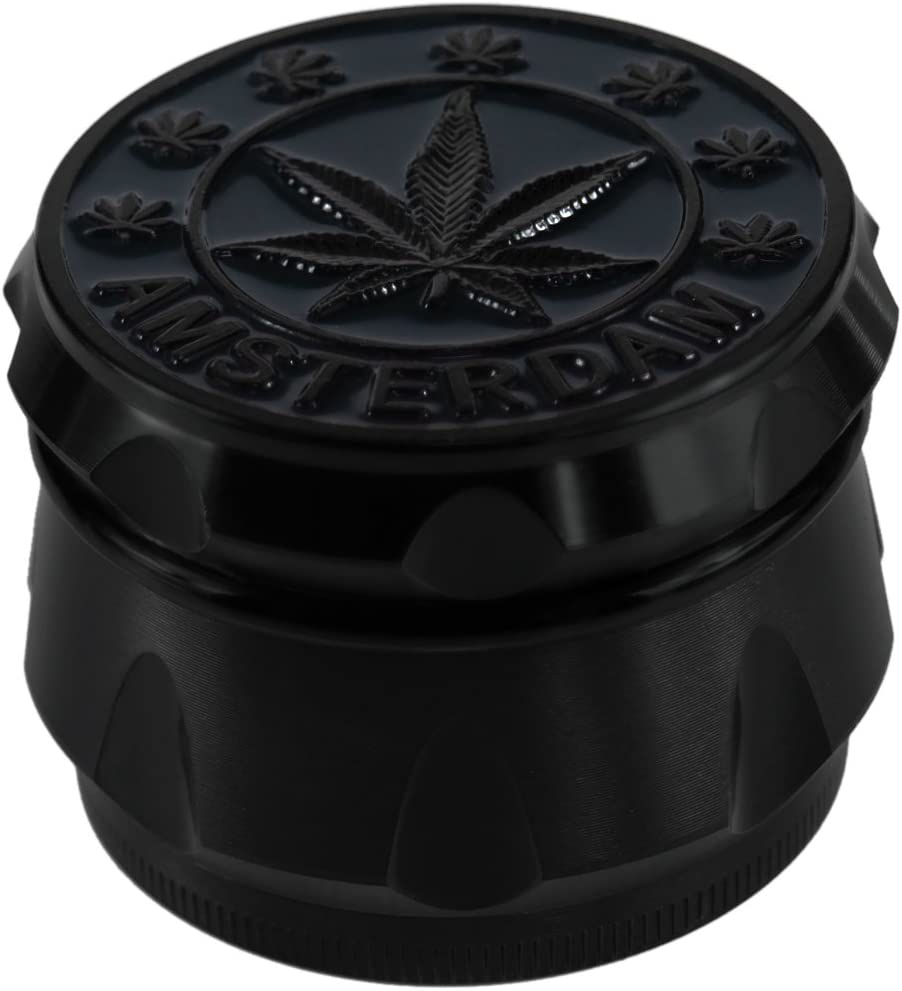 Black FORMAX420 Herb Grinder 50mm 2 Zoll 4 St/ück mit Pollenf/änger