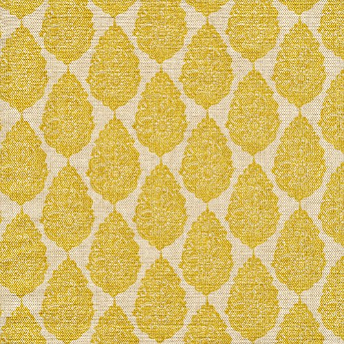 - Jersey Collins Yellow Floral Medallion Cotton Shower Curtain