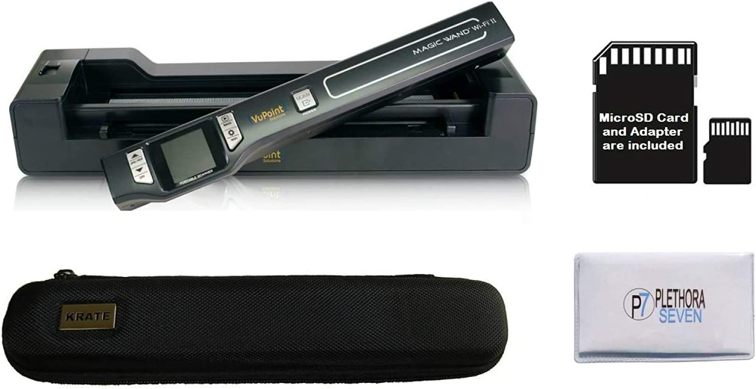 Blue Renewed Vupoint ST470 Magic Wand Portable Scanner w//Auto-Feed Docking Station