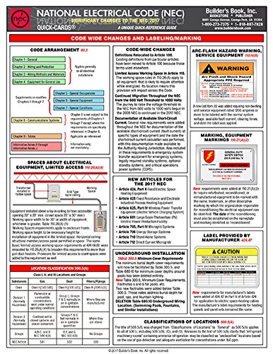 National Electrical Significant Changes Quick Card product image
