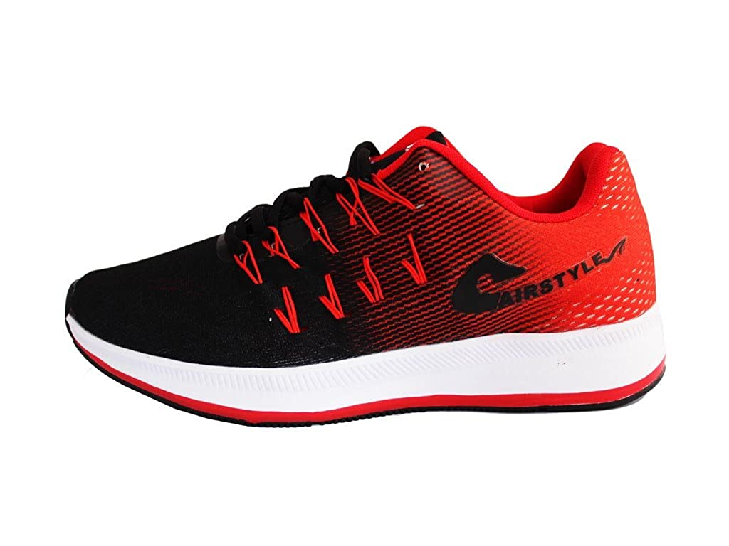 200c7cc634656 MAX AIR Sports Running Shoes 8852 Black Red (7 M UK Men)  Buy Online at Low  Prices in India - Amazon.in