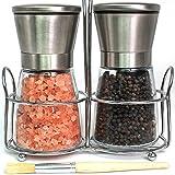 King Cooking Salt & Pepper Grinders Set | Premium Stainless Steel...