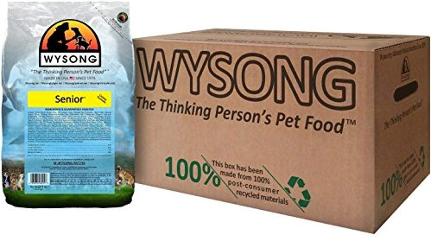 Wysong Senior Canine Formula - Dry Diet Senior Dog Food, Four- 5 Pound Bag (858012)