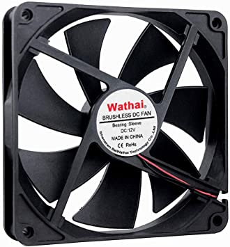 Thermaltake TT-1425 Blue LED 140 mm Computer Case Fan 12 v 3 pin DC Brushless