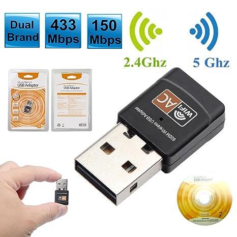 Tarjeta de red inalámbrica receptor inalámbrico Wifi USB ...