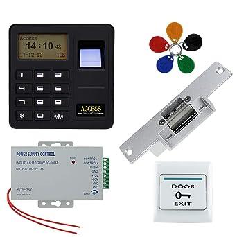 NN99 Kit de sistema de control de acceso de puerta de 125 KHz Controlador de acceso