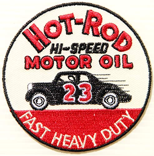 HOT Rod HI Speed Motor Oil Racing Costume Car Patch Iron on Sewing Embroidered Applique Logo Badge Sign Embelm Craft Gift