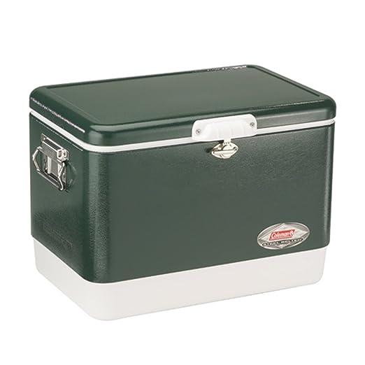 Coleman Steel-Belted Portable Cooler, 54 Quart, Olive Green - 3000003096