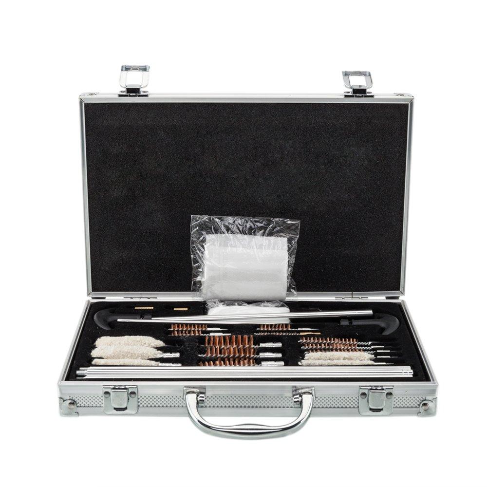 126pcs Outdoor Shotguns Barrel Cleaning Kit Silver