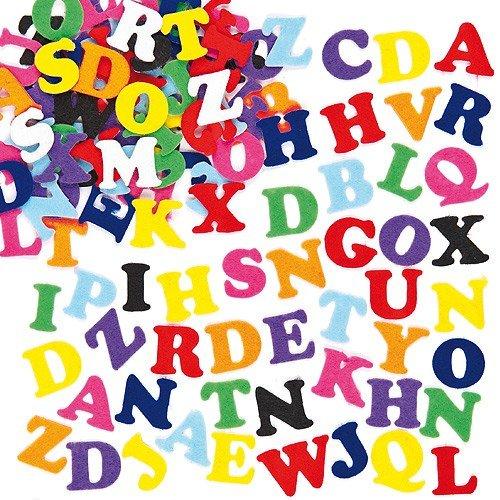 Baker Ross Self-Adhesive Felt Upper Case Letters, 0.9 inch for Children's Crafts & Card Making (Pack of 550)