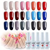 Vishine 24Pcs Gift Set Gel Nail Polish Kit Soak Off UV LED Nail Gel Polishes for Nail Art 8 ML/PC Pack of 24 Pretty Colors Series Kit 002