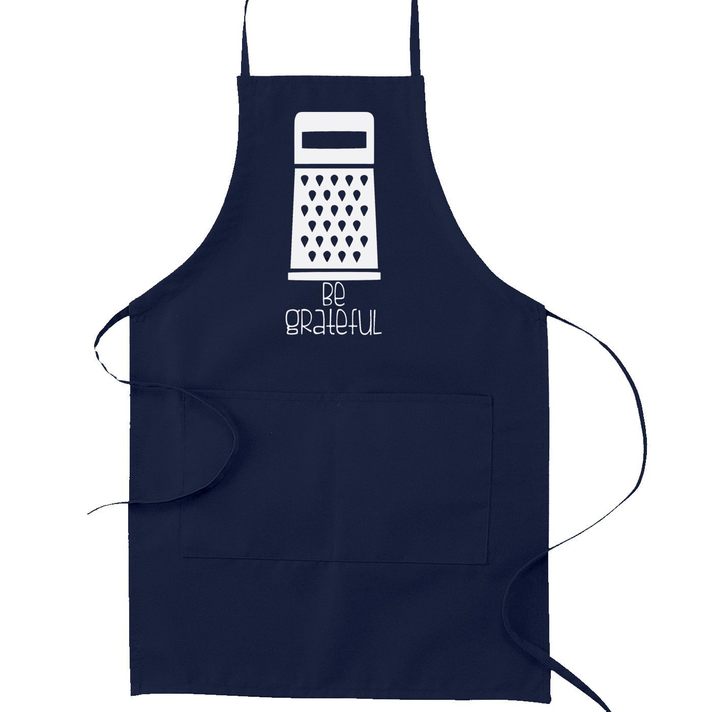 Be Grateful Cheese Grater Pun Funny Parody Cooking Bakingキッチンエプロン OneSize ブルー SP-00004KA-NB  ネイビーブルー B01NA00LW3