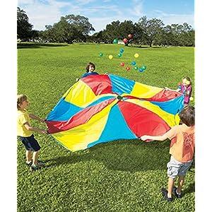 10' Diameter Rainbow Parachute With 24 Balls & Carry Bag