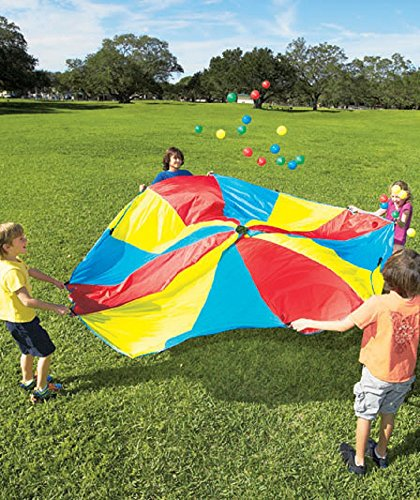 10' Diameter Rainbow Parachute With 24 Balls & Carry Bag