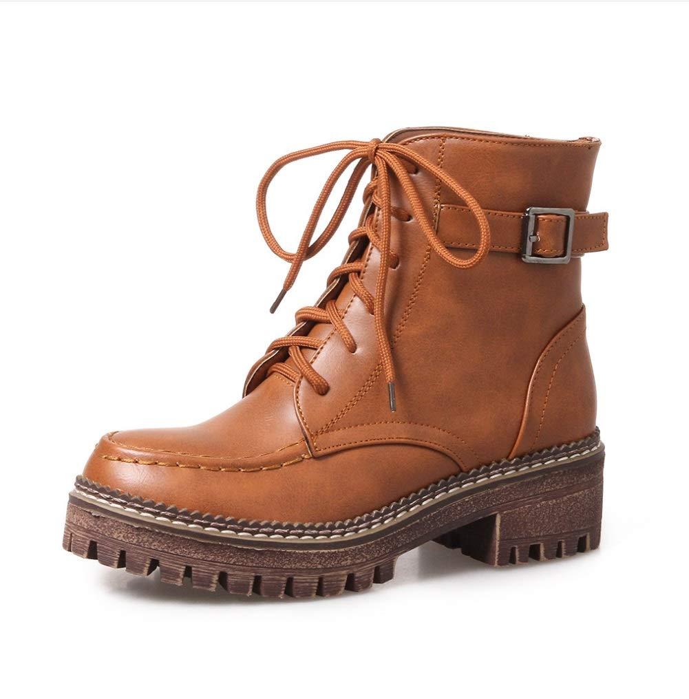 SHANGWU Andere Damenschuhe Army Combat Combat Army Ankle Stiefel Grip Sole Arbeit High Top Wüste Lace Up Gummistiefel Schuhe Wahl für den täglichen Verschleiß Größe 3c47e3