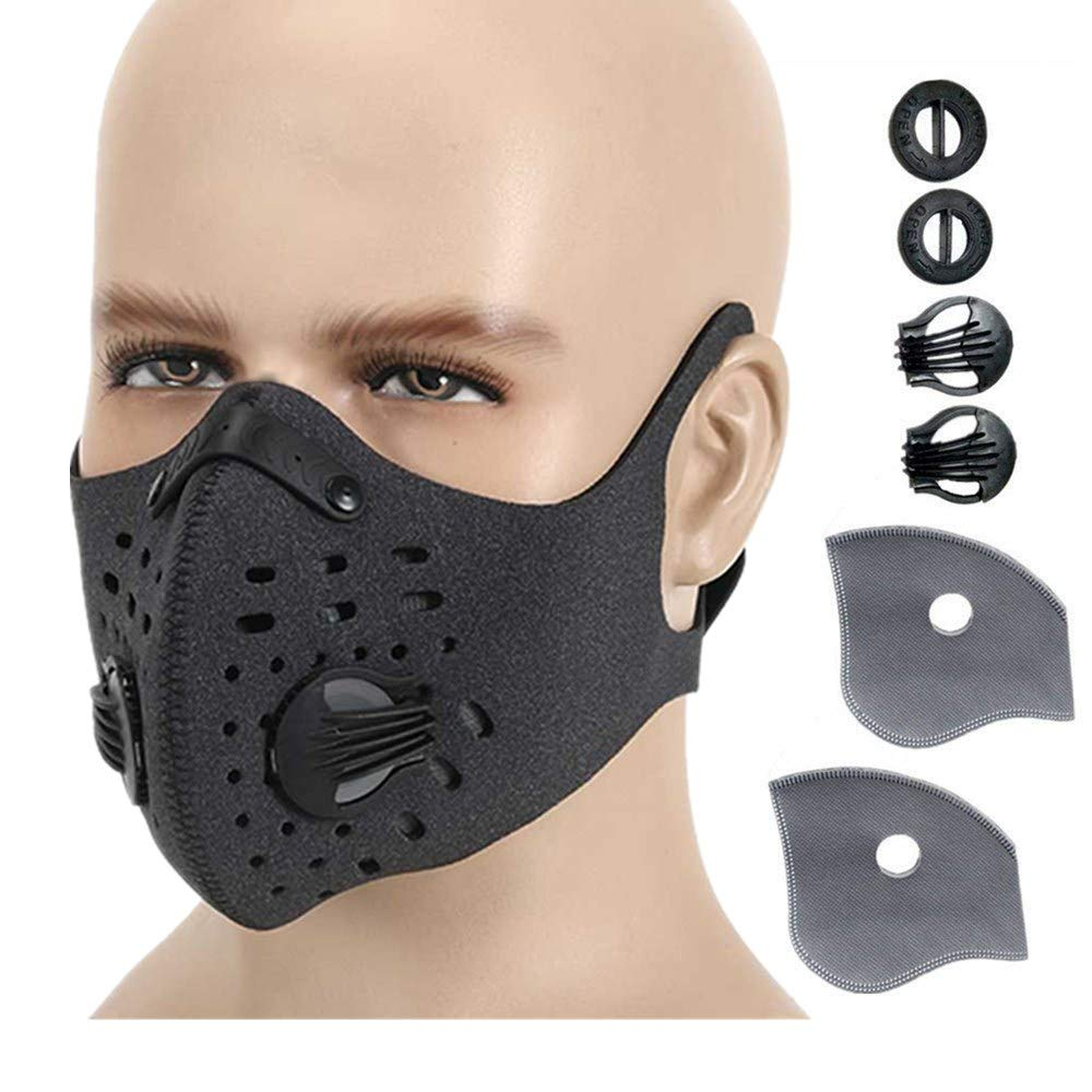 Ligart Dust Mask with Activated Carbon mask Filter Dustproof Mask Filtration Exhaust Gas Anti Pollen Allergy PM2.5 Air Filter Mask for Running Cycling and Other Outdoor Activities by Ligart