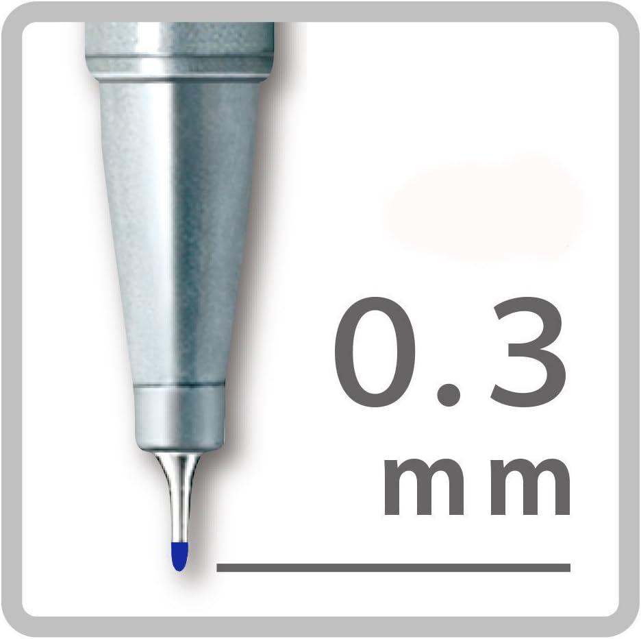 Pack of Six 6 Blue Staedtler Triplus Fineliner 0.3mm