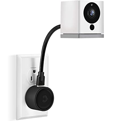 Frienda AC Outlet Mount Compatible with Wyze Cam, Blink Cam, Nest Cam,  Cloud Cam, Yi Home Camera, Adjustable Indoor Wall Mount Bracket Holder, No  More