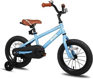 JOYSTAR Totem Kids Bike with Training Wheels for 12 14 16 18 inch Bike, Kickstand for 18 inch Bike (Blue Ivory Red Orange Pink Green)
