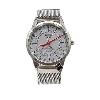 Junkers Reloj de cuarzo - Mono temporizador Limited Edition Milanaise pulsera plata 6435 - 4 - Fabricado en Alemania.: Amazon.es: Relojes