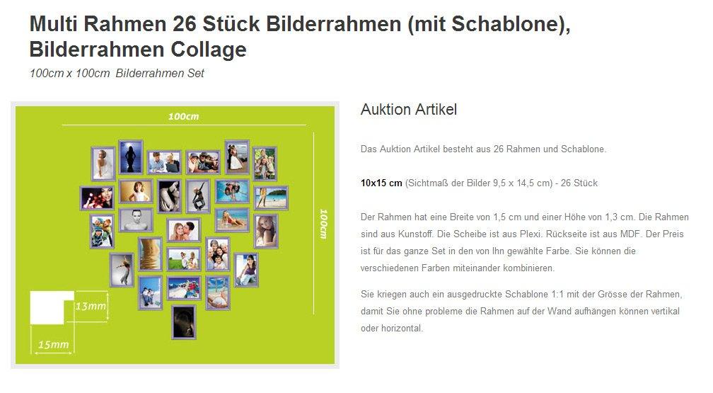 Amazon.de: Herz Fotocollage Bilderrahmen Foto Bild Galerie Collage ...