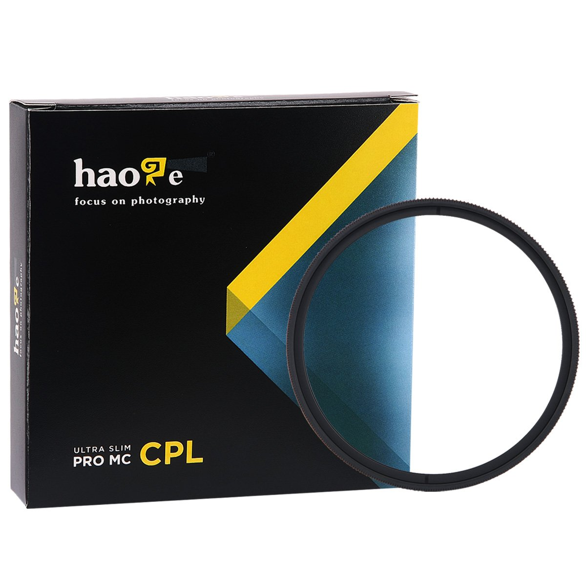 Haoge 49mm MC CPL Multicoated Circular Polarizer Polarizing Lens Filter for Canon Nikon Sony Minolta Pentax Olympus Panasonic Leica Zeiss Tamron Digital Camera DSLR Lens CPL-49