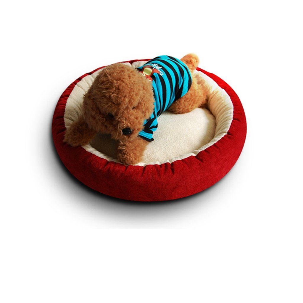Red Medium Red Medium Dogs Beds Furniture Bed Blankets Soft cat Litter Kennel Cat mats Bomei Teddy VIP Schnauzer Bear Dog Bed (color   Red, Size   M)