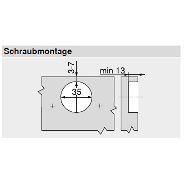 BLUM ECODRILL Scharnier-Bohrlehre für Clip top Möbelbänder ...