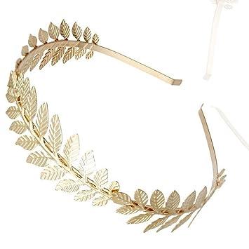 mayor selección de fina artesanía precio de calle Diadema romana, diadema de hojas de oro, diadema vintage ...