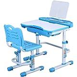 学習机セット 子供用 デスク・椅子セット キッズデスクセット 高さ調整可能 角度調節可能 文房具収納 多機能 大容量トレー付き