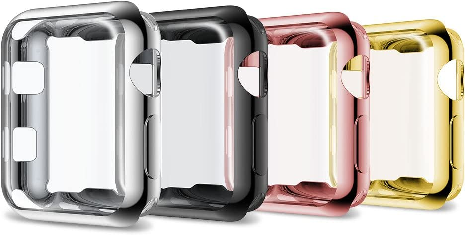 Notocity Compatible Apple Watch Series 3 Case Full Cover Soft TPU Protective Case for Apple Watch Series 3/Series 2-4 Colors Pack,42mm
