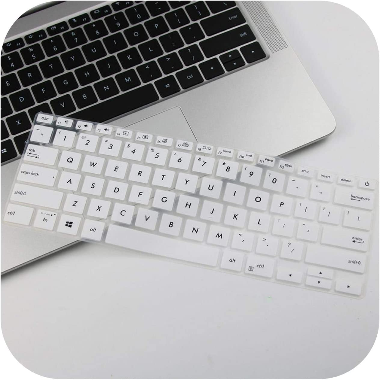 Silicone Notebook Laptop Keyboard Cover Protector Skin for Asus UX434 UX434FL UX431 UX431FN UX431FA UX392 UX392FN-White