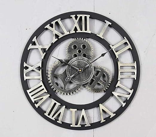 YZY Reloj De Pared para Jardín Al Aire Libre, Reloj De Pared De Engranaje Retro De Gran Tamaño De 40 Cm Adorno De Jardín Vintage Impermeable para Jardín/Patio/Patio: Amazon.es: Hogar