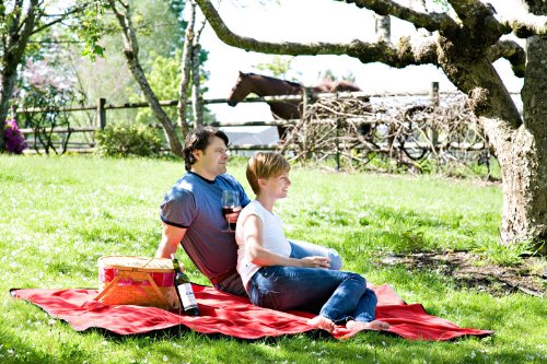 Mambe Large Essential 100% Waterproof/Windproof Stadium, Camping, Picnic and Outdoor Blanket Made in the USA